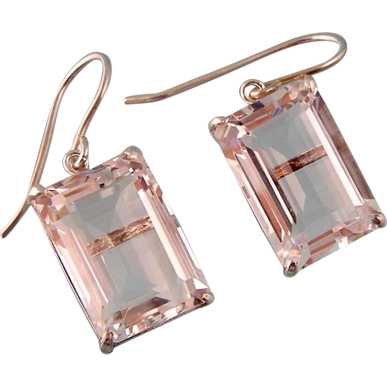 Brilliant Rock Crystal Drop Earrings, Japan, Sterling Silver