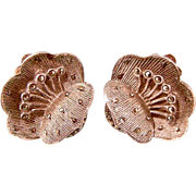 Theodore Fahrner Flower Earrings, Art Deco Germany