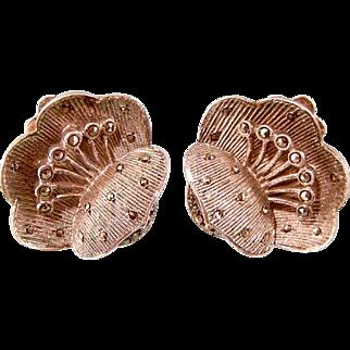 Theodore Fahrner Flower Earrings, Art Deco Germany