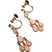 Petite Opal Chandelier Earrings, 9ct Gold