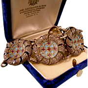 Theodor Fahrner Enamel and Filigree Bracelet, 1940s, Book Piece