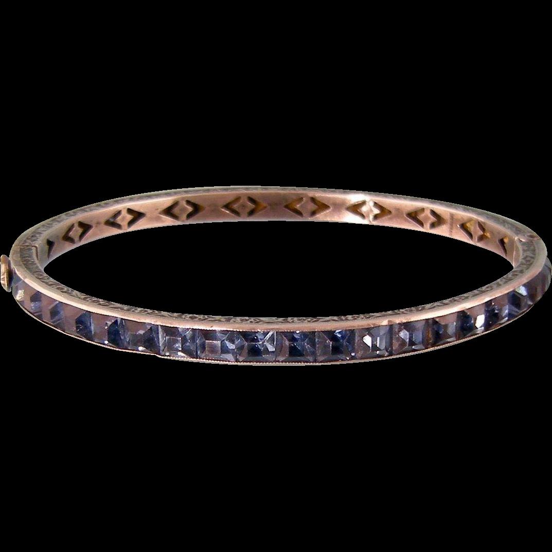 Art Deco Faux Sapphire Bangle Bracelet In Sterling Silver. Zircon Stud Earrings. Horseshoe Pendant. Flashy Wedding Rings. Plain Gold Rings. Art Nouveau Wedding Rings. Lobster Clasp Bracelet. 3d Printed Pendant. St George Pendant