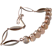 Art Deco Moonstone Bracelet, Sterling Silver
