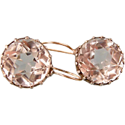 Dazzling Antique Victorian Rock Crystal Earrings, Classic!