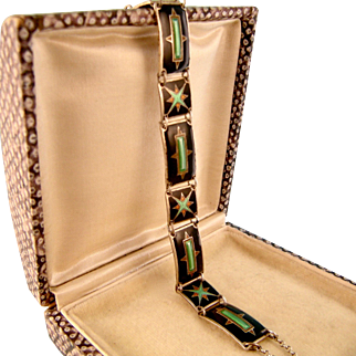 Exceptional Vintage Enameled Bracelet, Bernard Meldahl, Norway