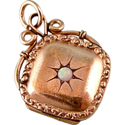Antique Victorian Locket with Opal Center