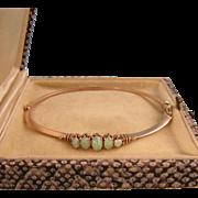 Antique Edwardian Five Opals Bracelet, 14k Gold, Exquisite