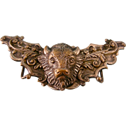 Antique Buckle with Buffalo Head