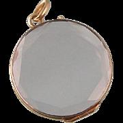 Antique 14K Gold, Beveled Glass Locket