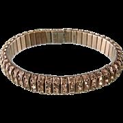DRGM Rhinestone Bracelet, Art Deco Germany, c1930