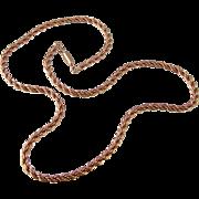 Vintage Krementz Heavy Chain, Nice Quality, Rosy Gold Fill
