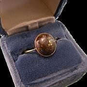 18K Gold Antique Opal Ring, Size 9.5