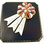 WW2 Enamel Clip, French Revolution motto: Liberte, Egalite, Fraternite, Collectible Book Piece