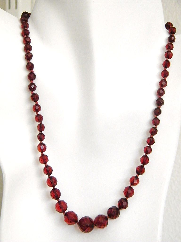 Cherry Amber Necklaces are available in several different sizes and time periods. Be on the lookout for many stones like quartz, crystal, and carnelian.