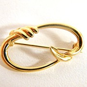 14K Gold Art Nouveau Style Pin - Special Mother's Day Price Reduction