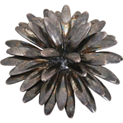 Sterling Silver S.C.F. Fogh Danish Dimensional Pin Brooch