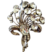 Beautiful Eisenberg Original Sterling Rhinestone Fur Clip