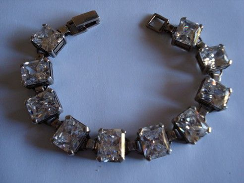 Sterling Crystal Bracelet