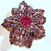 Charming Tiered Austria Flower Brooch
