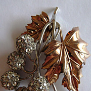 Gorgeous & Unusual Pennino Sterling Leaf Brooch