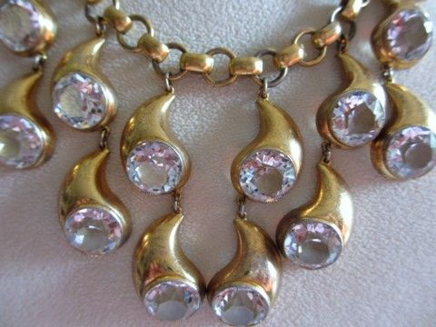 Gorgeous Art Deco Rock Crystal Necklace