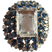 Fabulous Vogue Sterling Crystal Brooch