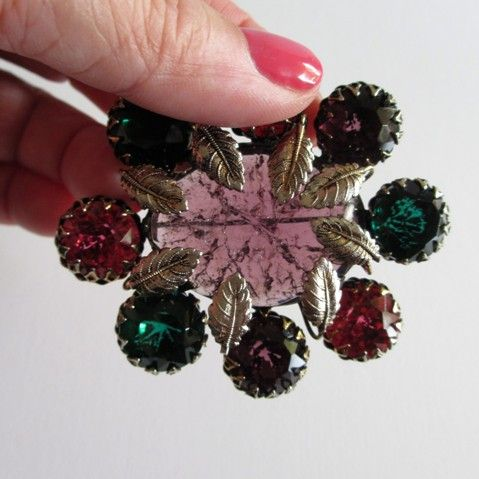 Pink and Green Dimensional Crackle Pin