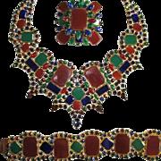 Gorgeous Alice Caviness Necklace, Bracelet & Brooch Set