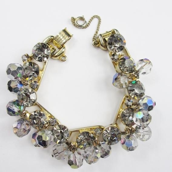 "Juliana ""Black Diamond"" Crystal Dangle Bracelet"