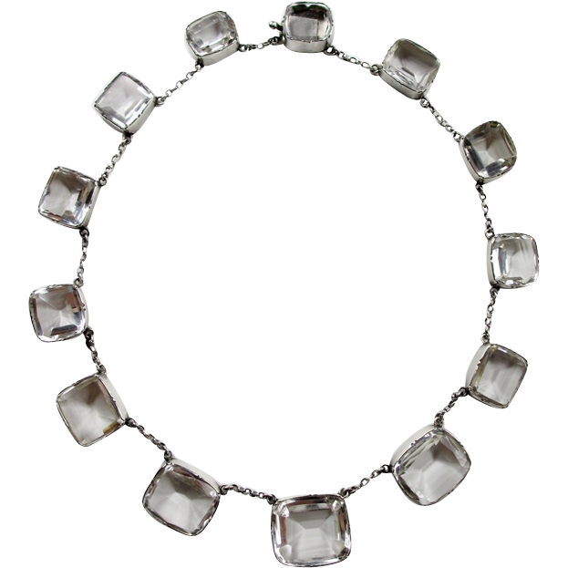 Gorgeous Rock Crystal Sterling Necklace