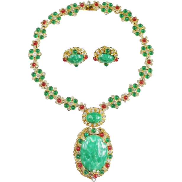 Rare & Amazing Vendome Necklace & Earring Set