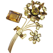 Wonderful 1940s Vogue Sterling Flower Brooch