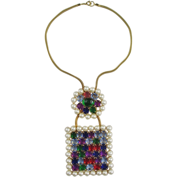 Amazing KJL Jewel Tone Necklace