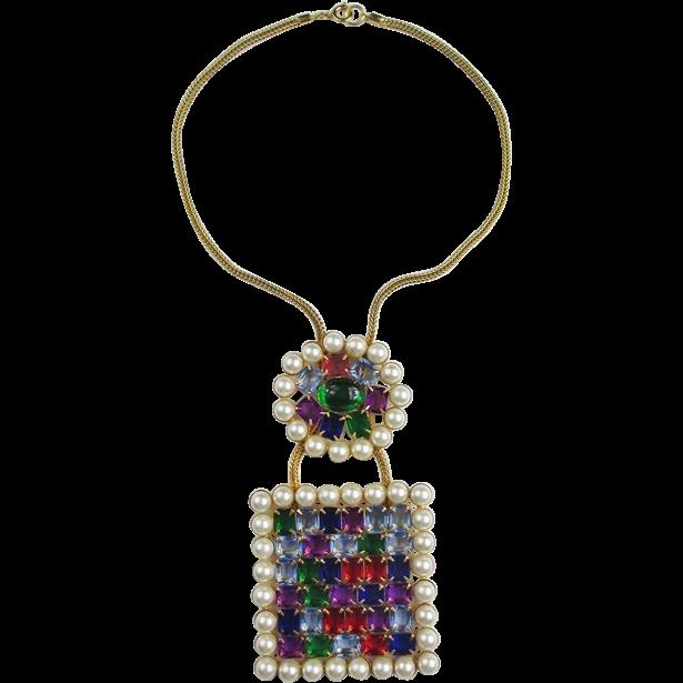 Amazing KJL Jewel Tone Necklace