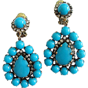 Gorgeous 1960s Kenneth Jay Lane (K.J.L.) Earrings