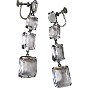 Rock Crystal Sterling Dangle Earrings