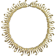 Boucher Gold Tone Leaf Collar