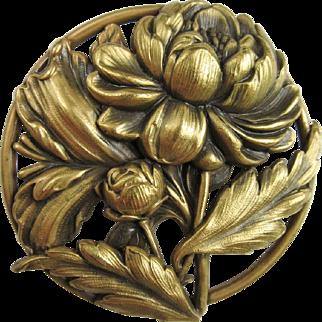 Lovely Joseff of Hollywood Flower Brooch