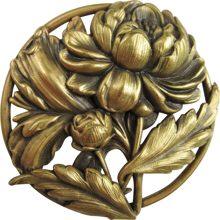 Lovely Joseff of Hollywood Flower Brooch