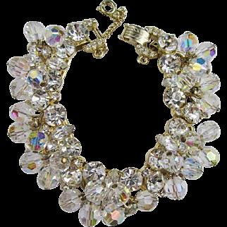 Juliana Clear Crystal & Rhinestone Bracelet