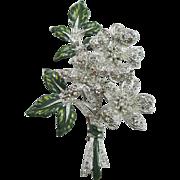 Sparkling Floral Trembler Brooch