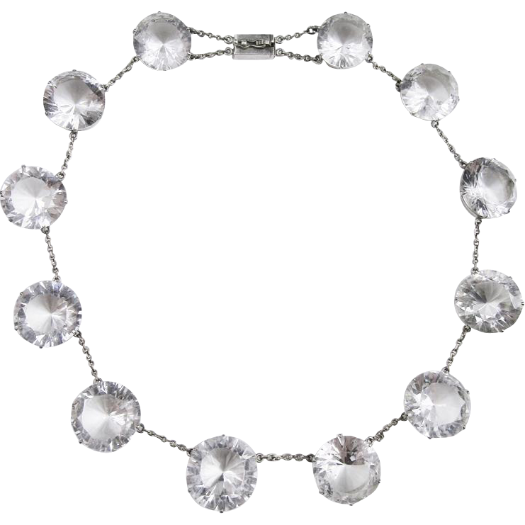 Spectacular Rock Crystal Sterling Necklace