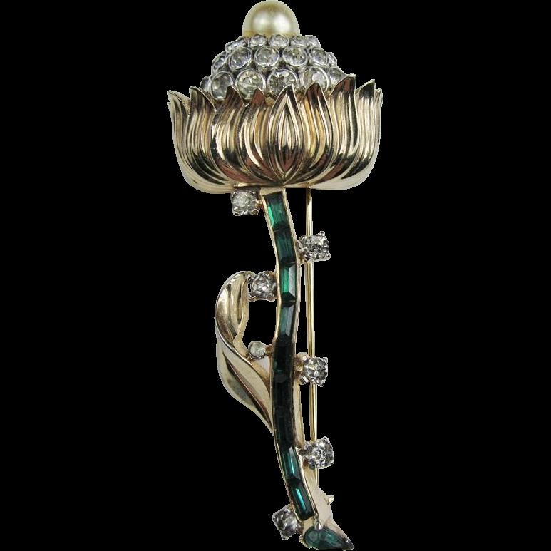 Lovely Mazer Flower Brooch