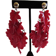 Impressive Celluloid Leaf Earrings