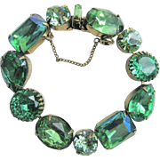 Regency Oversized Green Stone Bracelet