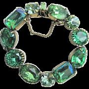 Regency Oversized Green Stone Bracelet