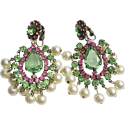 Gorgeous K.J.L. Kenneth Jay Lane 1960s Earrings