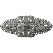 Art Deco Style Duette Brooch Clip