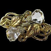 Lovely Art Deco Crystal Brooch