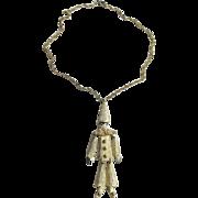 Adorable Polcini Clown Necklace/Brooch